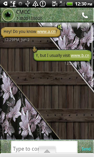 GO SMS THEME PoisonIvy