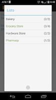 Screenshot of Grocery List