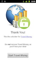 Screenshot of Travel Money Unlocker