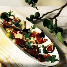 Figs, Prosciutto and St.-André Cheese