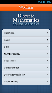 Discrete Math Course Assistant - screenshot