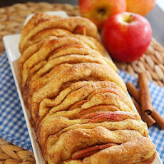Apple Pie Pull Apart Bread with Vanilla Glaze