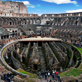 Interiors of Colosseum - Rome by Vinod Chauhan - Buildings & Architecture Public & Historical ( ancestoral, colosseum, rome, beautiful, italy, historic )
