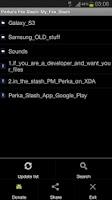 Screenshot of Perka's File Stash