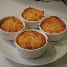 Baked Cauliflower And Ham Pots