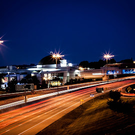 highway scene by Edgar Vaughn - City,  Street & Park  Street Scenes ( #delmar, #stl )