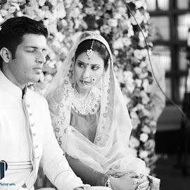 by Ravish Singh - Wedding Bride & Groom