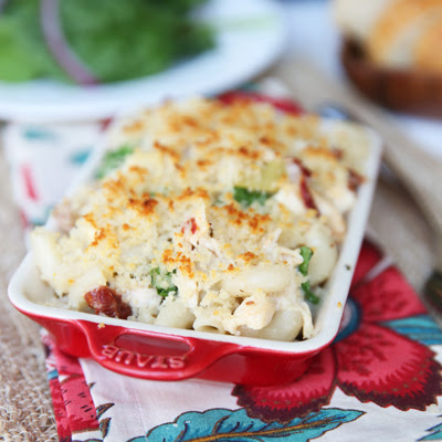 Hearty Garlic and Herb Alfredo Bake