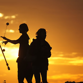 Playing in the Sunset by Cheri Bryan - People Street & Candids (  )