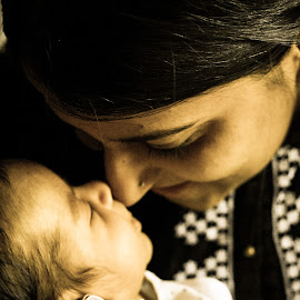 A new mother by Savneet Kaur - People Family ( mother and child, mother's love, baby and mother, new mother, newborn )