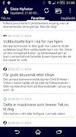 Screenshot of Siste Nyheter (Norwegian News)
