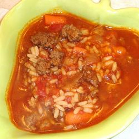 Hamburger Rice Soup