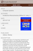 Screenshot of Simple Bookshelf