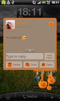 Screenshot of GO SMS Pro Pumpkins Theme