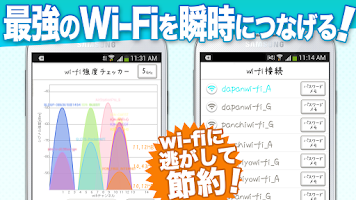 Screenshot of WiFi・通信量チェッカー:wi-fi接続で通信料を節約せよ