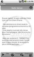 Screenshot of Radio Gatsun