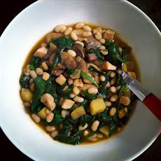 Chicken, Navy Bean, and Spinach Stew Recipe Recipe