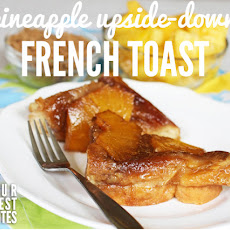 Cream Cheese-Stuffed Pineapple Upside-Down Overnight French Toast