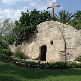 He is risen! Matthew 28:6 by Esther Lane - Buildings & Architecture Statues & Monuments ( the holy land, he is risen, orlando fl., matthew 28:6,  )