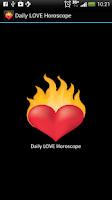 Screenshot of Daily LOVE Horoscope