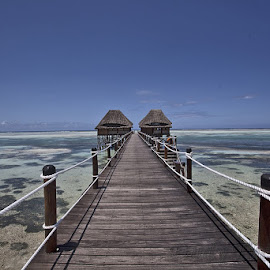long long way by Dudy Tuchfeld - City,  Street & Park  Skylines ( picture, zanzibar ;, tanzania ;, sea, hotel )