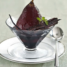Poached Pears In Spiced Red Wine