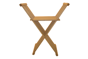 Front View of The Chisbury Stool - Folding Occasional Chair in Oak