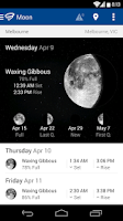 Screenshot of WillyWeather
