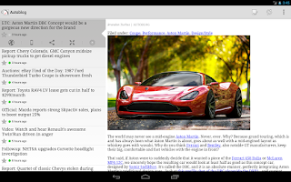 Screenshot of FeedR News Reader