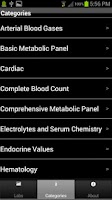 Screenshot of Pharmacy Lab Values