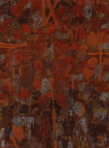 """<p> <strong>Isola San Michele II</strong><br /> Oil on prepared paper<br /> 50"""" x 38""""<br /> 2009<br /> </p>"""