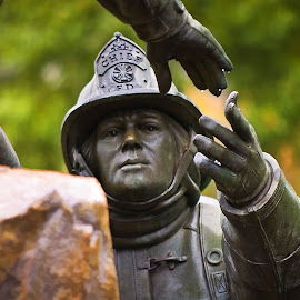 by Howie George - Buildings & Architecture Statues & Monuments ( memorial, hands, fireman )