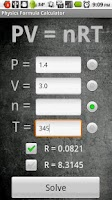 Screenshot of Physics Formula Calculator 1.1