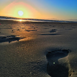 Follow the footsteps and you will never get lost  by Emil Chetty  - Landscapes Beaches