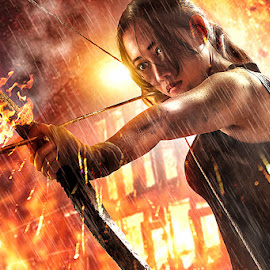 Tomb Raider by Bang Munce - Digital Art People ( games, tomb raider, creative, arrow, movie, survival, people, women, composite, manipulation, lara croft )