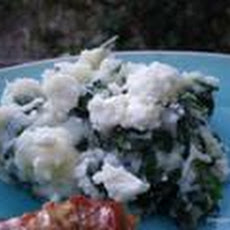 Spinach Mash With Garlic  and Fetta