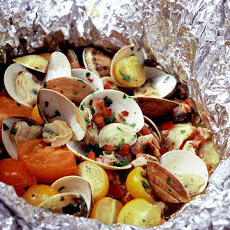 Clams in Cartoccio