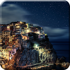 Greece Night Live Wallpaper HD