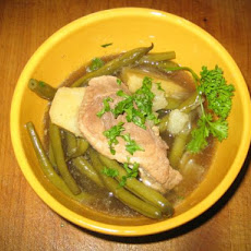 Braised Green Beans Potatoes and Pork Chops