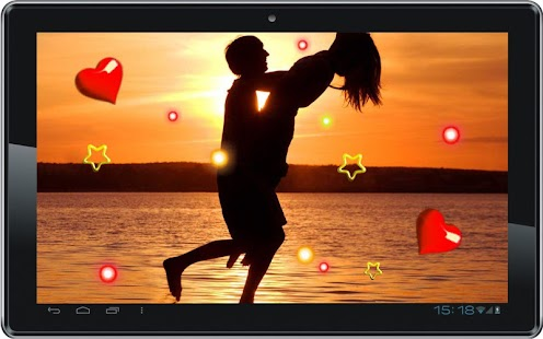 Sunset Kisses live wallpaper - screenshot
