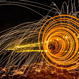 Time Tunnel by Patrick Loo - Abstract Light Painting ( light painting, fireworks, light trails, fire, light art, Lighting, moods, mood lighting )