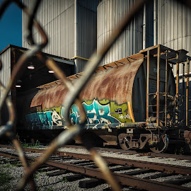 End of the line. by Nick Kelleher - Transportation Trains ( canada, toronto, vandalism, graffiti, train, dof )