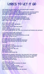 Frozen World Lyrics - screenshot