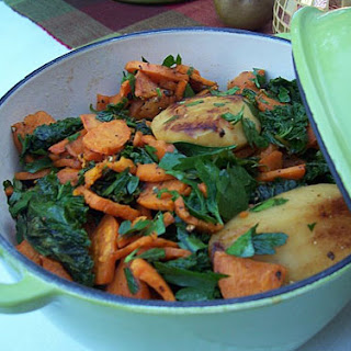 Sweet Potatoes, Apples, and Braising Greens