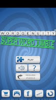 Screenshot of Wordgenuity ®Super Word Jumble