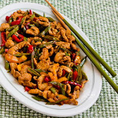 Recipe for Stir Fried Turkey (or chicken) with Sugar Snap Peas and Peppers (and Tips for Chinese Cooking)