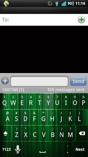 Green Spectrum Keyboard Skin