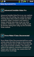 Screenshot of Wake My Android Pro (free)