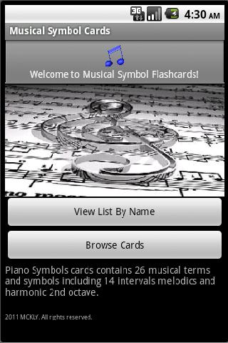 Piano Symbol Cards