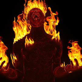 Human Torch by David Stanton - Digital Art People ( fire, photoshop )